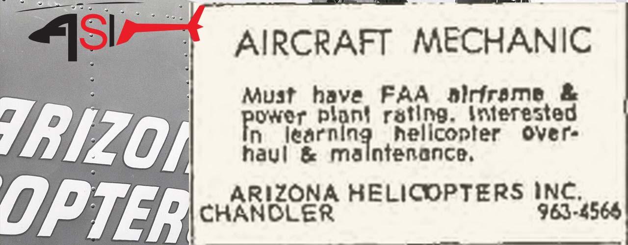 1967 Arizona Helicopters Job Advert